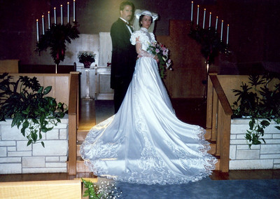 Rebecca Hornbaker and B J Andrews wedding photo