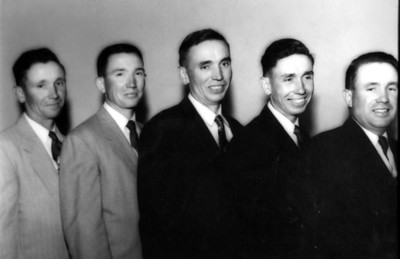 Hornbaker Brothers 1956. Left to right: Vincent, Gerald, Ferris, Roger and Melvin