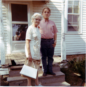 Martha Hornbaker, widow of Vernon W Hornbaker, and Jon Hornbaker, son of Melvin and Ruth Hornbaker
