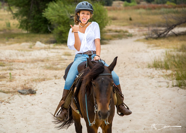 Daddy daughter 16th birthday horseback riding at Folsom Lake.
