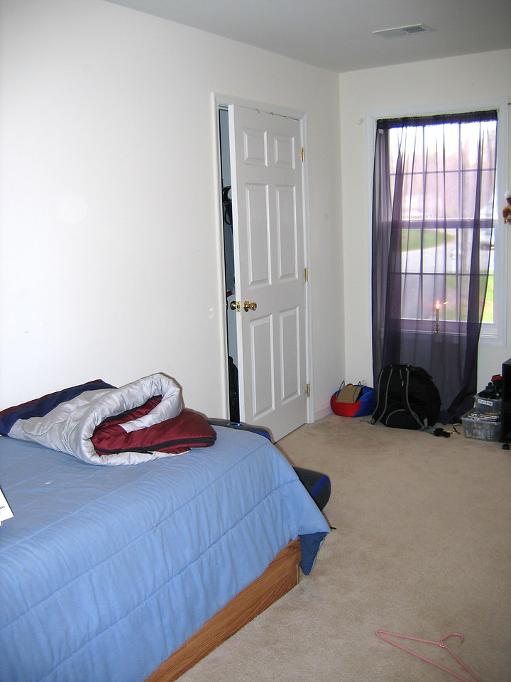 The first bedroom is the largest of the remaining three.