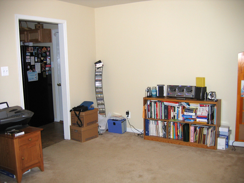 The room to the right of the entryway is the formal dining room or can also be the office as is used here.