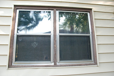 Window on south side, before.