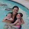 Meredith, Tabitha and little Joe at the pool.