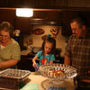 Aunt Tina, Madaline, and Bob in the kitchen.