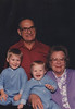 December 1991.  Howard and Elizabeth with grandsons Justin and Eric.