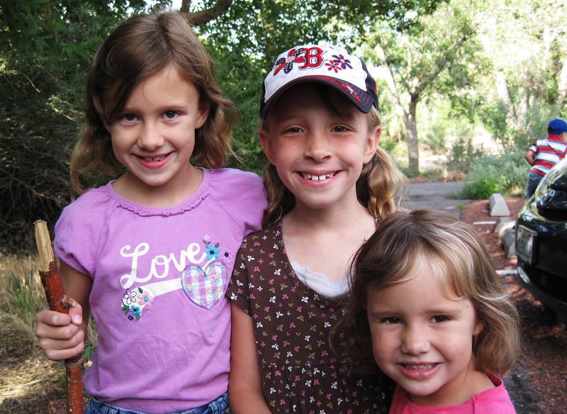 Olivia Funk, Sarah Ann Huber and Audrey Funk.