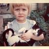 Marie with Kitty on Farm Mid 1962