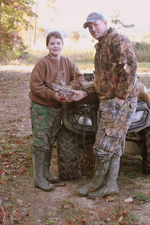 Brooks with his Uncle T.J who took him hunting on the youth hunt November 1st.