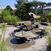 Children's play fountains.