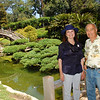 Desiree and Dad take in the Japanese gardens.