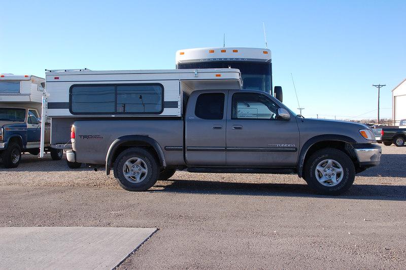 Picking the camper up in Idaho Falls, Idaho.