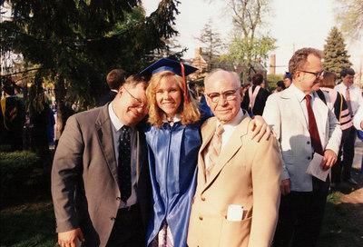 At first grandchild Michelle's college graduation.