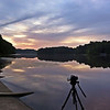 Capturing a sunrise. Tribble Mill Park, Spring 2012