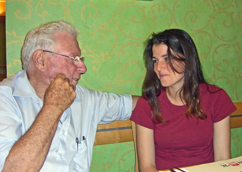 Abba and Ella Niv at Coffee Anan.