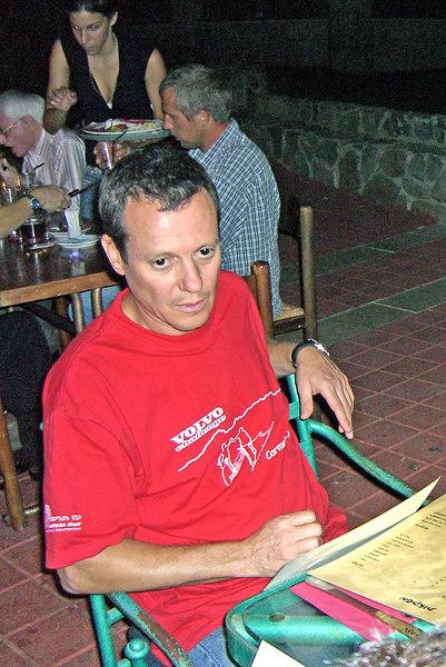 Yuval Niv, night, Jordan river restaurant.