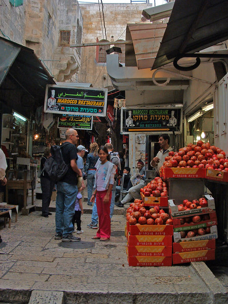 Eli,Naama Bahar,Arab market, Jlem, 21Oct06.j