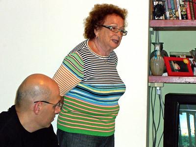 Eli Bahar,Hella Unger, 20Oct06, in Kfar Netter.