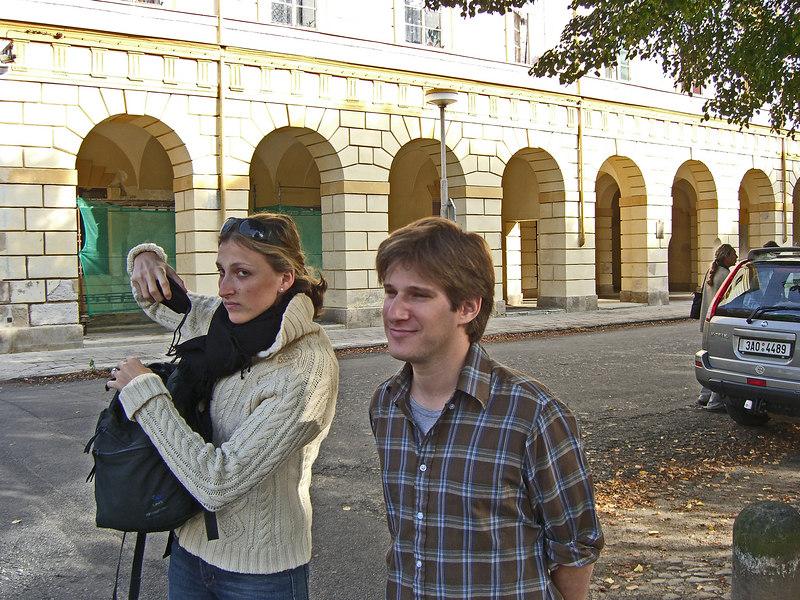 Tour buddies rebecca and Josh Tenzer, at Terezin.