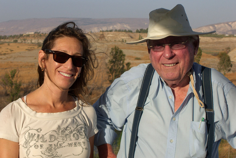 5-Abba Niv at Gesher, Israel, with the site manager, Nirit Bagron, OCT 12.