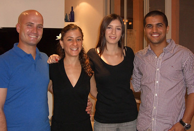 21-Tsach, Ya'ara, Reut, Yakir. First in a series of snaps at a large family dinner at Nurit's House, Rosh Ha'ayin, OCT 23.