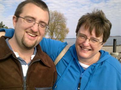 Ian and Mom - Champlain Park in Orillia, ON - Fall 2010