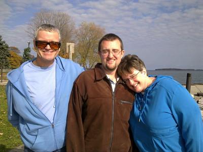 Dad, Ian, Mom - Champlain Park in Orillia, ON - Fall 2010