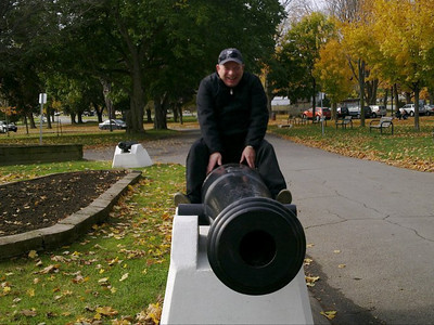 Glenn goofing around in Champlain Park - Orillia, ON