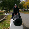 Glenn goofing around in Champlain Park - Orillia, ON
