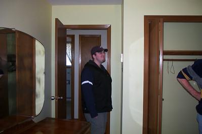 Ian - inside Grandma & Grandpa Ferguson's house after it's been sold - 2002