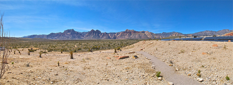 Panorama from Red Rock Canyon Visitor Center.