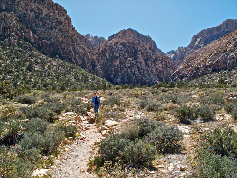 Returning to Ice Box Canyon trail head.