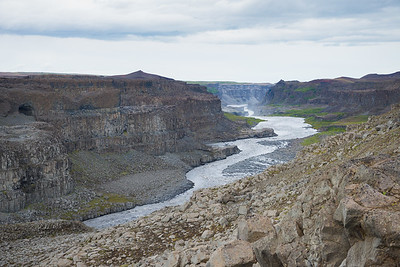 Dettifoss down stream