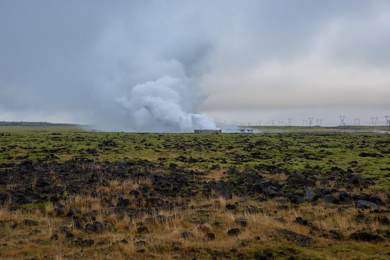 Steam vent outside Hellisheidi Power Station.