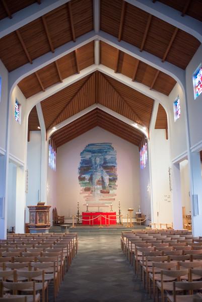 Interior of Skálholt Cathedral.