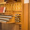Pipe organ inside Skálholt Cathedral.