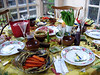 Thanksgiving table in 2007