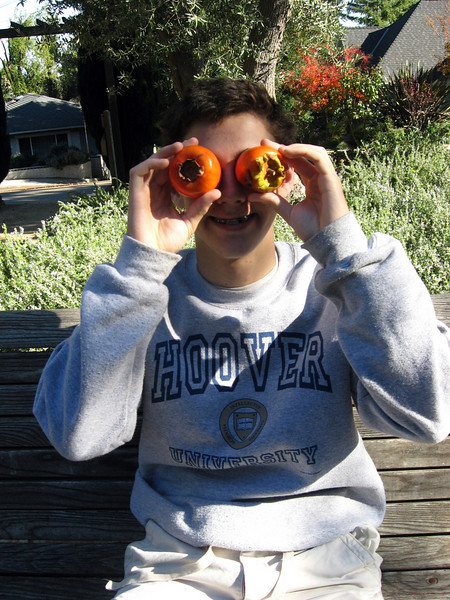 Is that Beau behind persimmons?