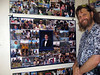 At Los Gatos High, collage displays described graduates' lives. Proud dad looks at Beau's.