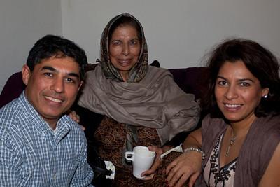 Saadia and I sit with Mummy,