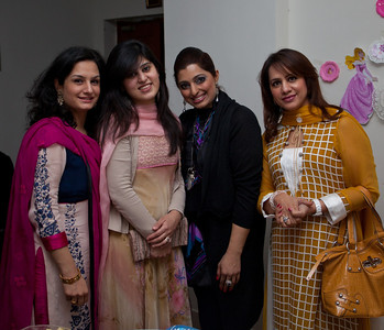Sonia with her sister in laws and friends.