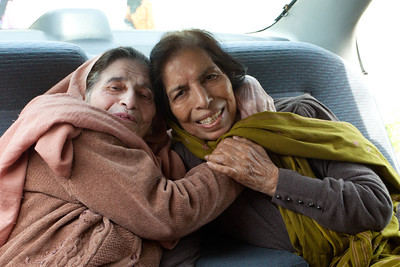 Mummy and her childhood friend, Miss Cheema.  Even though she could not move because of a hip operation she still insisted on coming to see Mummy and the two were so happy sitting in the car.