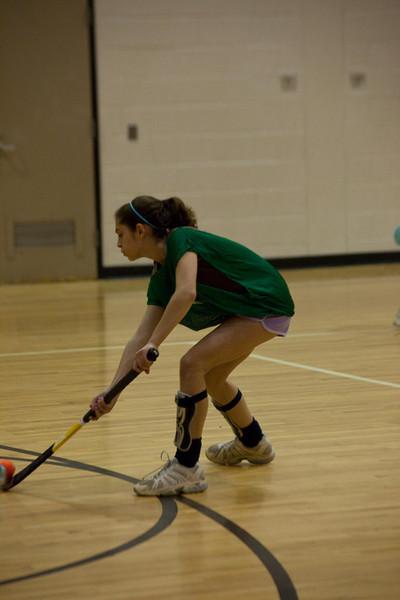 Anisa demonstrating her hockey skills!