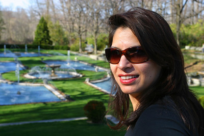 Saadia by the fountains.
