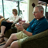 Rich opens his ipod touch...a present from Christine.