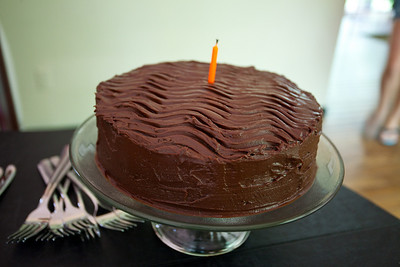 """The cake.  Rich and Tanya gave Anisa a book called the """"Cake Bible"""" that has every conceivable cake recipe."""
