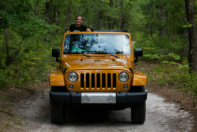 We pick a random trail in Pine Barrens and start following it.