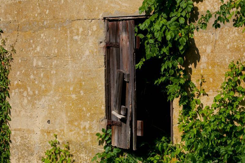 Broken shutters.