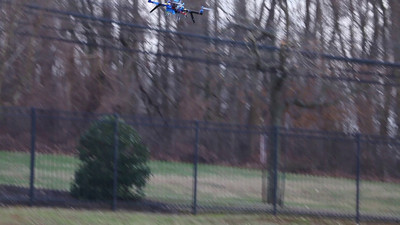 video of the drone in the air.