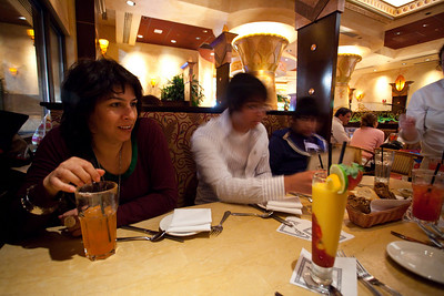 At the cheesecake factory